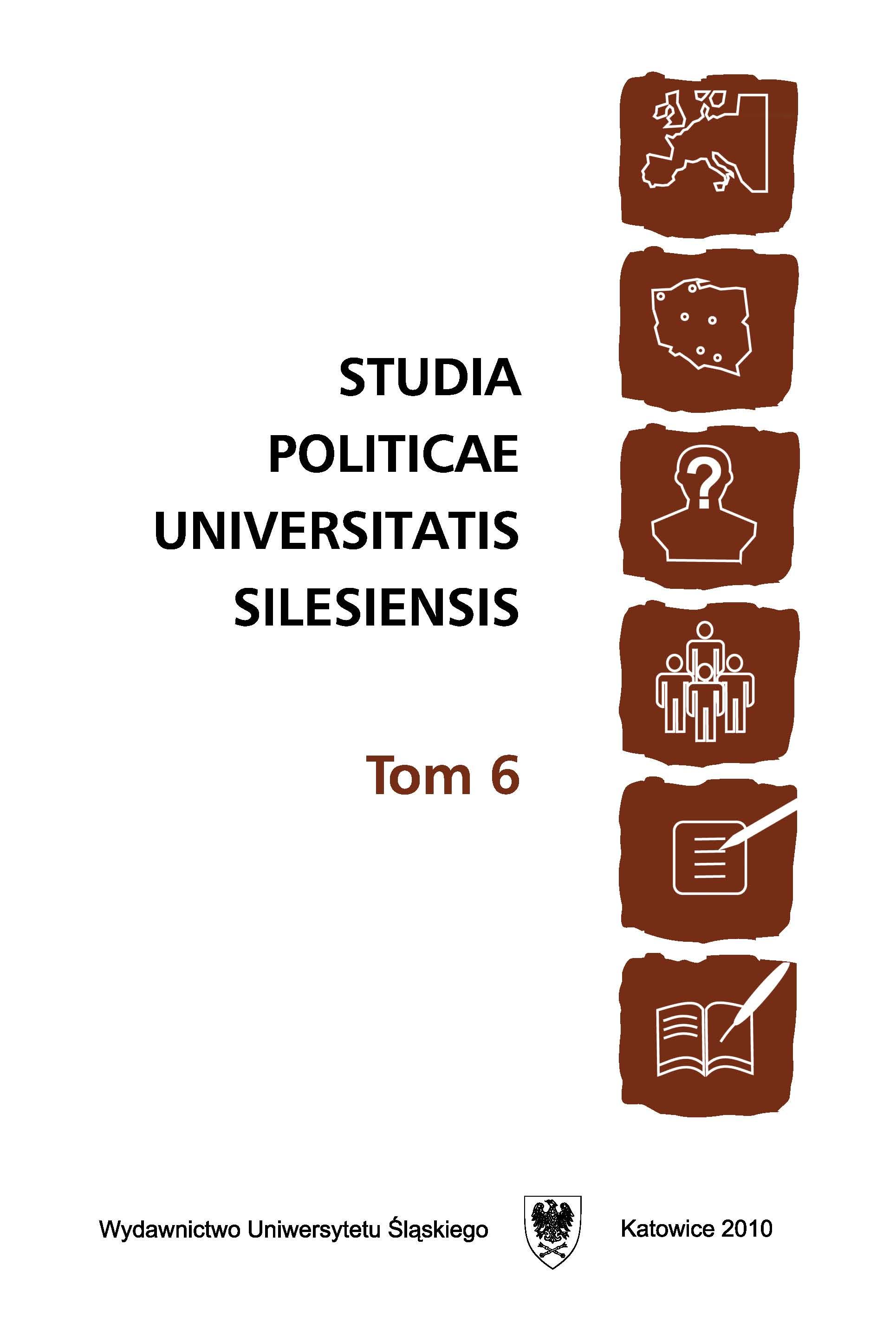 Studia Politicae Universitatis Silesiensis Tom 6