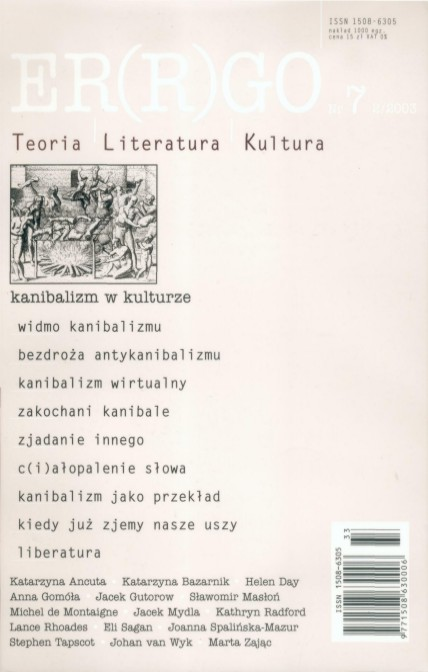 ER(R)GO nr 7 (2/2003) - kanibalizm w kulturze