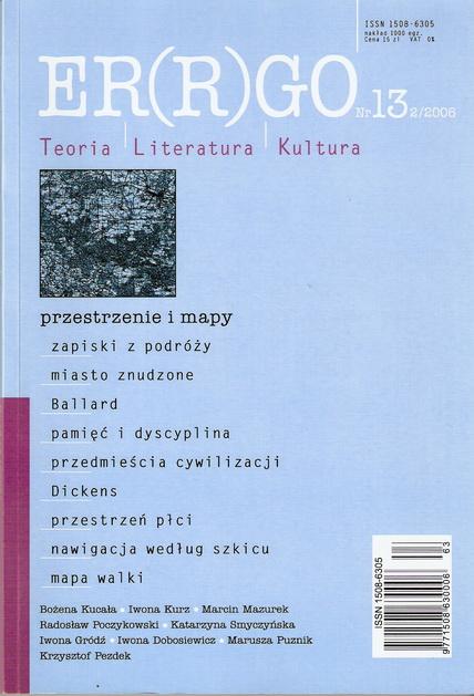 ER(R)GO nr 13 (2/2006) - przestrzenie i mapy