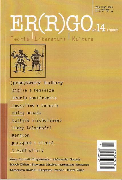 ER(R)GO nr 14 (1/2007) - (prze)twory kultury