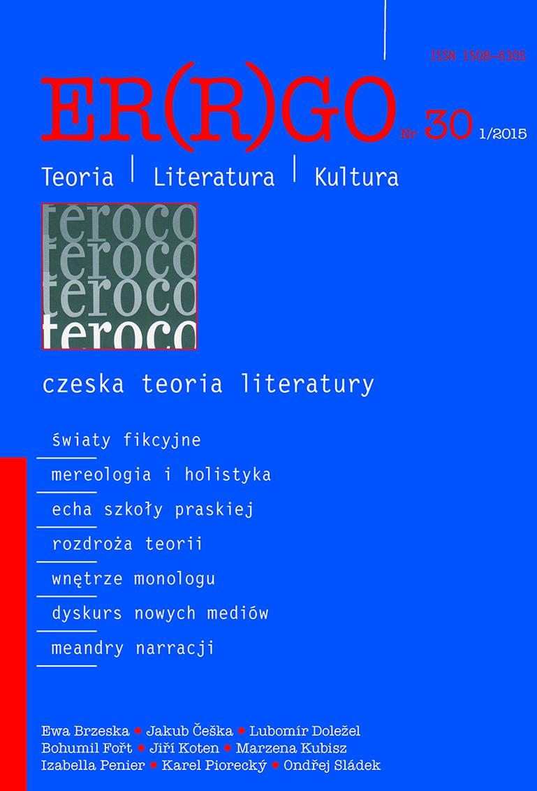 ER(R)GO nr 30 (1/2015) - czeska teoria literatury (pod gościnną redakcją Libora Martinka)
