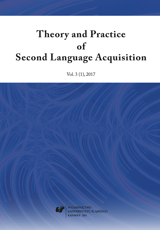 Vol 3, No 1 (2017): Theory and Practice of Second Language Acquisition